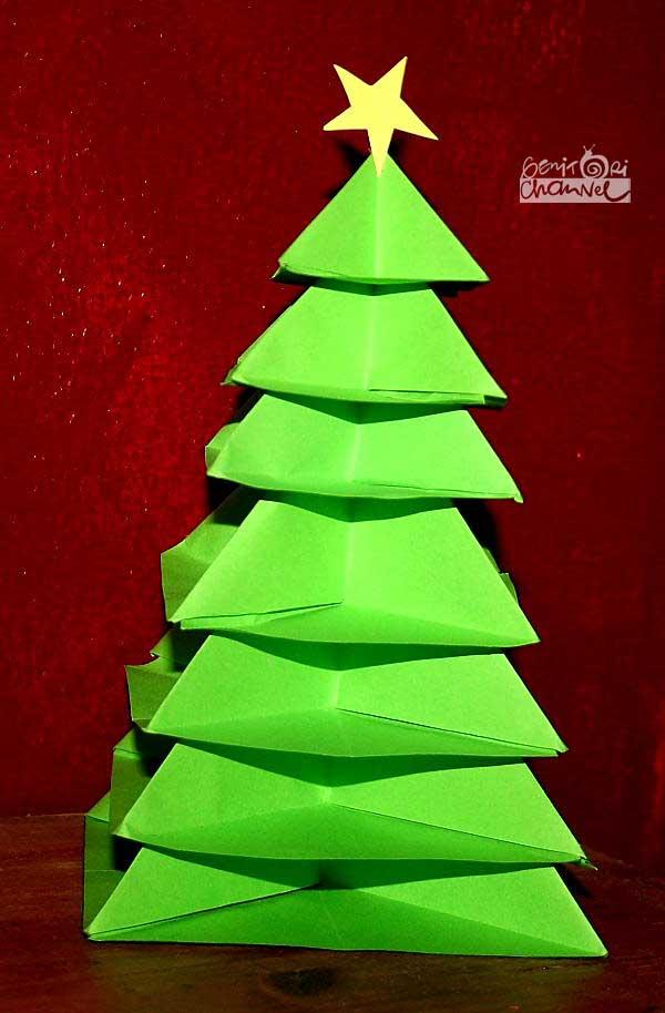 Albero Di Natale Origami.Albero Di Natale Origami Tutorial