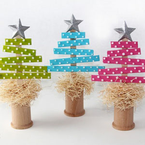 Lavoretti Di Natale Con Bastoncini Di Legno.15 Alberi Di Natale Lavoretti
