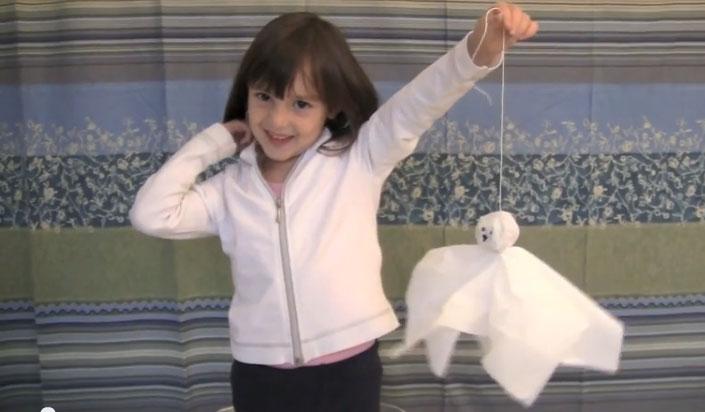 10 tutorial di fantasmi per halloween - Decorazioni con fazzoletti di carta ...