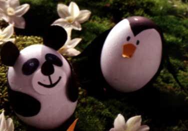 Lavoretto l 39 uovo gallinella e l 39 uovo coniglietto per - Uova decorate per bambini ...