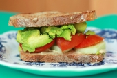 Veg sandwich with avocado