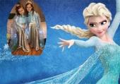 Elsa di Frozen - costume fatto in casa