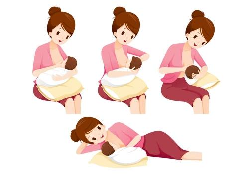 Le posizioni per l'allattamento