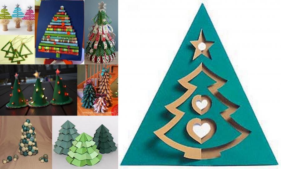 Lavoretti Di Cartoncino Per Natale.15 Alberi Di Natale Lavoretti