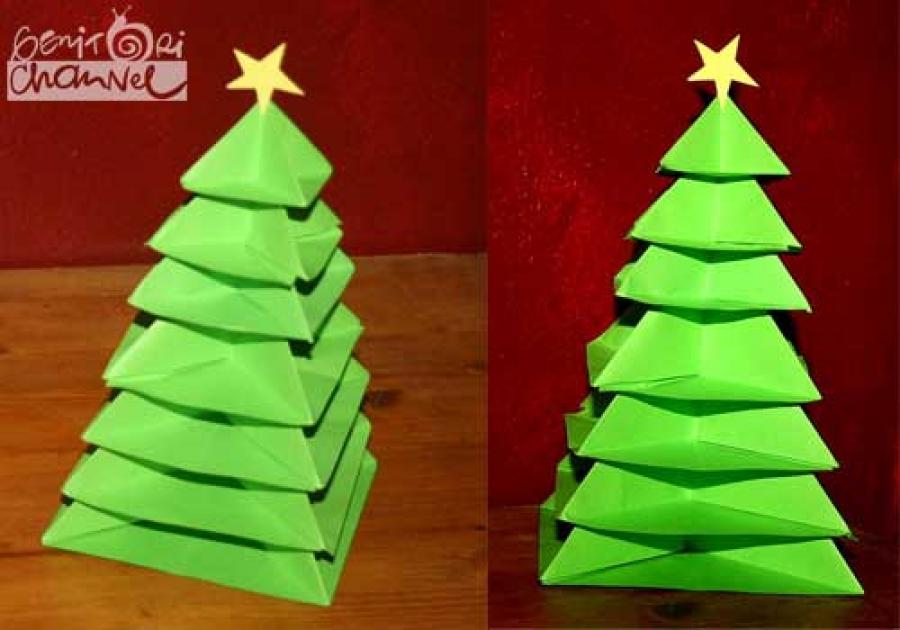 Tutor Lavoretti Di Natale.Albero Di Natale Origami Tutorial