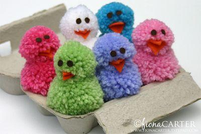 Risultati immagini per pon pon di lana